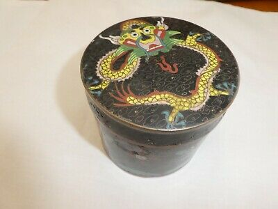 Cloisonne Lidded Pot Dragon Pattern