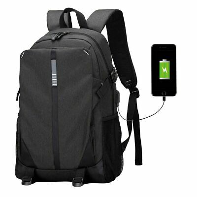 Ultra Smart Tech2Go Rechargable Large Capacity Laptop Bag anvas Backpack with US