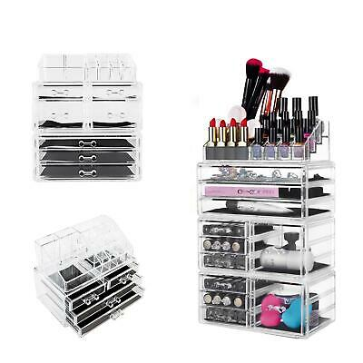 NEW Acrylic Makeup Cosmetic Storage Case Jewelry Organizer Holder Tower Display