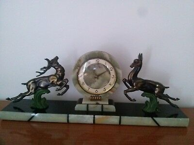 French Deco Clock C1930? Some Marble Damaged..2571