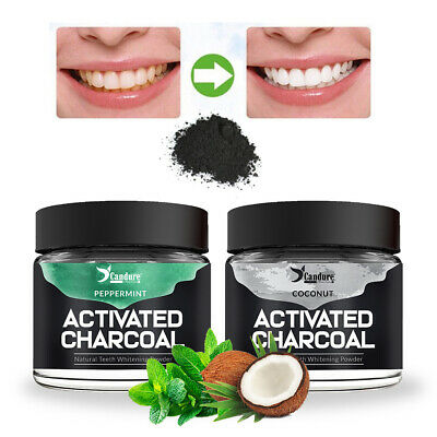 Activated Charcoal Powder Natural Organic Black Teeth Whitening 60g