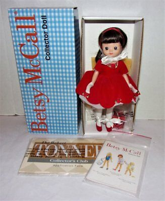 "Robert Tonner Betsy Mccall 8"" Doll Original Box & Papers Holiday Christmas"