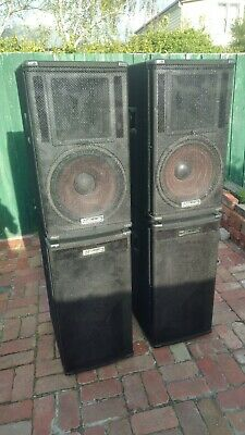 "Electrovoice eliminator passive stage speakers - 2 x 18"" Sub and 2 x 15"" treble"