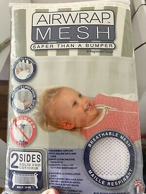 Airwrap Mesh Side Protection - 2 Sided, White, Breathable Cot Bumper
