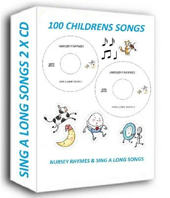 100 KIDS NURSERY RHYMES CHILDREN'S SINGALONG SONGS ON 2 x CD