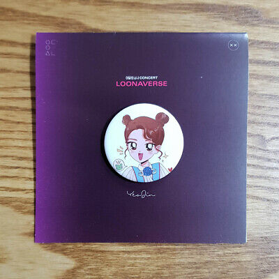 Yeojin Pin Button Loona Loonaverse Concert Officia MD Monthly Girls Kpop Geunine