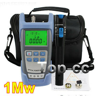 Fiber Optical Power Meter and 5km 1mW Visual Fault Locator Cable Tester