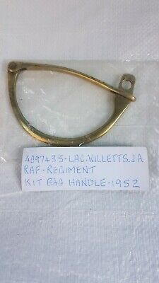 Antique Brass Lock Military Kit Bag Clamp Handle Clip ??