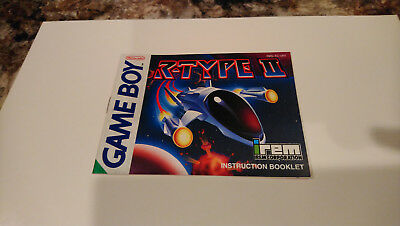 """NINTENDO GAMEBOY: """"R-Type 2 MANUAL"""" - NM/NM+ - BOOKLET ONLY! NO GAME!"""