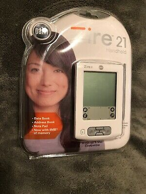 NEW Sealed! Palm Zire 21 Handheld Palm Pilot PDA White 8MB Memory