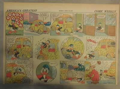 Donald Duck Sunday Page by Walt Disney from 4/14/1940 Half Page Size