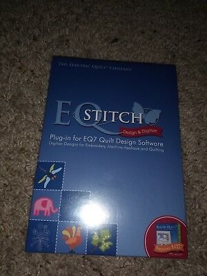 EQStitch Plug-In for EQ7 Quilt Embroidery Digitizing Design Software NEW SEALED