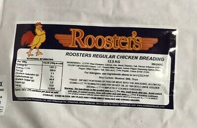 12.5kg Roosters Regular Southern Fried Chicken Breading Powder Flavour KFC