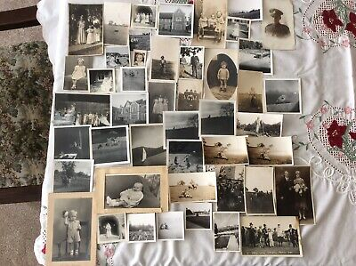 Job lot of mixed old Photographs. Vintage. b/w and sepia People