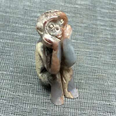 NEW LISTING ,Chinese natural jade carved, The Ancientmonkey pendant A3660