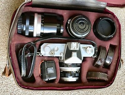 NIKON Nikkormat ftn Camera in fitted leather case.