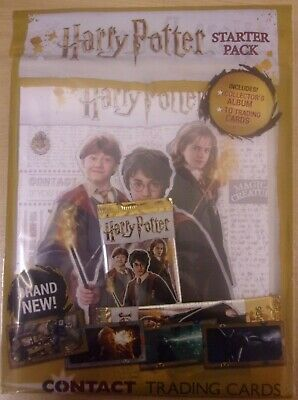 Harry Potter Contact ~ Panini Trading Card Collection ~ Starter Pack