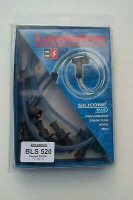 Peugeot 205 GTi Lumenition Silicone Blue Plug leads-rasce/rally/trackday