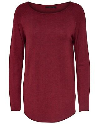 ONLY Mila Lacy L/S Long Pull Maglia Lunga Sun - Dried Rosso 15109964