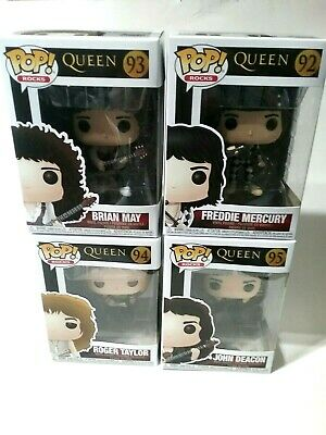 Funko Pop! Queen Roger Taylor, Brian May, John Deacon, Freddie Mercury Set of 4
