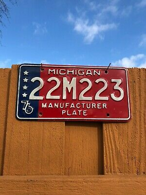 Michigan License Plate - Bicentennial