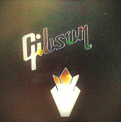 Gibson Guitar Headstock Crown logo, Decal Sticker OEM, 0.4% 22k GOLD LEAF
