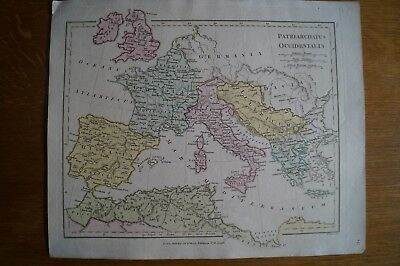 Antique Map of W Europe & N Africa in Roman times by Robert Wilkinson from 1800