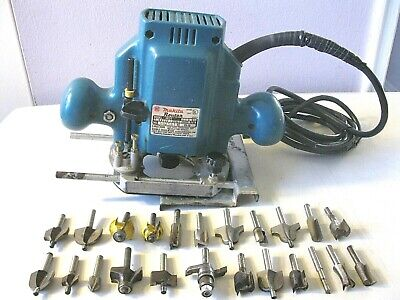 Makita Router With Straight Edge Guide & 23 Router Bits -- Model 3620
