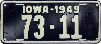 1949 IOWA license plate (GIBBY CHOICE)
