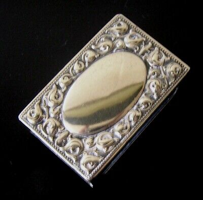 Vintage Silver Plated Match Box Cover Alpacca