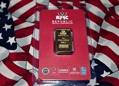5 gram Gold Bar -  (In a TEP Package) Fineness Au 999.9 ISO CERTIFIED/A000623