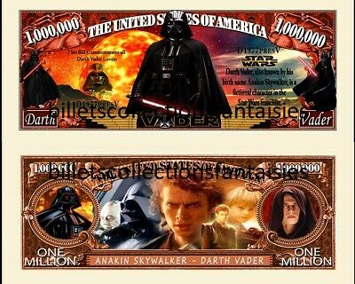 DARK VADOR. STAR  WARS. Million Dollar USA. Billet de commémoration / Collection
