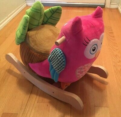 Owlivia Pink Owl Chair Musical Rocker Ride on Toy by Rockabye