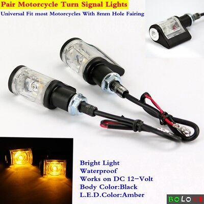 Universal Motorcycle LED Turn Signal Lights Blinker Indicator Bright Amber Light