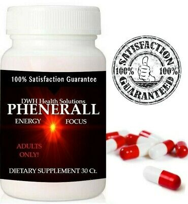 Phenerall #1 Energy Pills Extreme Focus Clarity Intense Nootropic Supplement