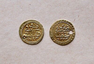 Lot Of 2 Ottoman Gold Coins To Be Catalogued. Very Nice Items!