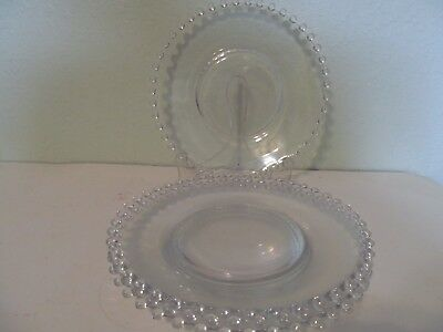 """6 Imperial Candlewick 7"""" seated bread salad dessert plates 400/23D"""