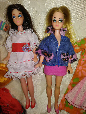 Vintage Topper Dawn-long lashes Lovely brunette Clone, lots of outfits, 2 pair s