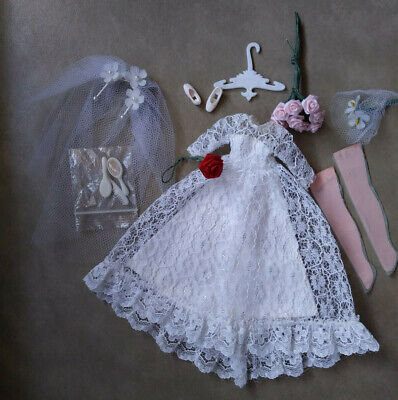 Topper Dawn doll wedding dress w/ accessories Lovely! Vintage 1970s++