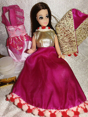 Vintage Topper Dawn- ANGIE Doll w/ HTF Montgomery Ward gown -shoes, Mini dress +