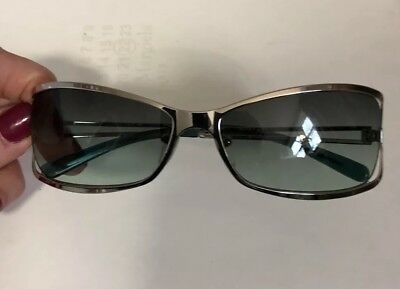 71824c0eeecf Vintage Givenchy Sunglasses with Case GSV008 circa 2003 silver frame /green  lens