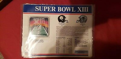 Super Bowl 13 Steelers Vs Cowboys Willabee & Ward  3-1/2 X 3-3/4 Patch Authenic