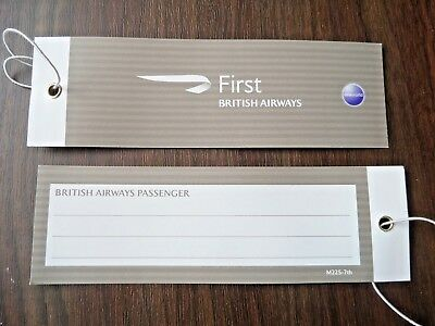 BRITISH AIRWAYS BA FIRST CLASS LUGGAGE  BAG TAGS  (2)  new