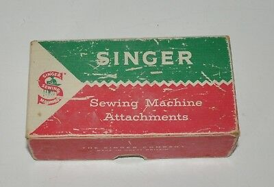 A  Vintage Singer Sewing Machine Box And Oddments