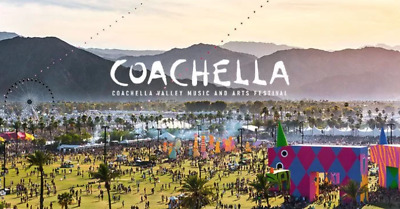 Coachella Weekend 1 Tickets Wristbands 2 two GA General Admission with Shuttle P