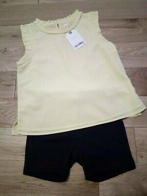 BNWT Tunic Top And Shorts Age 4-5 Years next and gap rrp £16.00