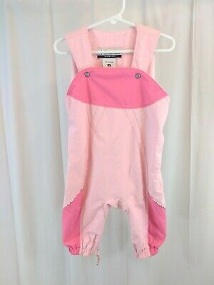 8e631fe3a BABY GAP GIRLS Size 6-12 Months Pink Snow Suit Overalls Fleece Lined ...
