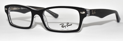 4fc1986d60b New Authentic Eyeglasses Kid s Ray Ban Rb1530 3259 Black   Transparent 48-16 -130