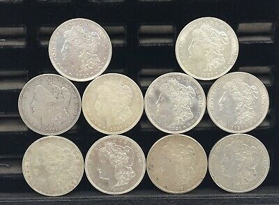 10-1921 Pds Morgan Silver Dollar Lot In Circulated Condition