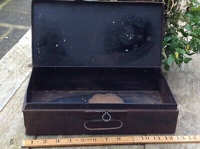 Very Very Scarce And Rare  Box Metal French Industrial Fabulous No Res Auction